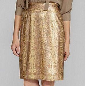 Antonio Melani gold/bronze sequin skirt size 8 new